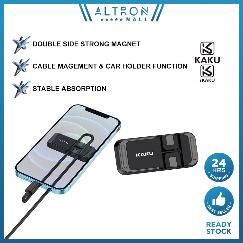 IKAKU KAKU KANUO Double Sided Magnetic Phone Holder USB Cable Organizer Management Silicone Stable Absorb Smartphone