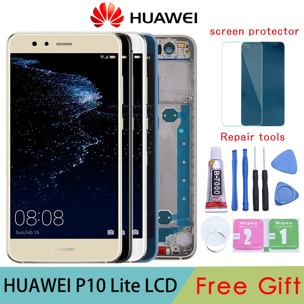Huawei P10 Lite LCD Screen Touch Display With Frame