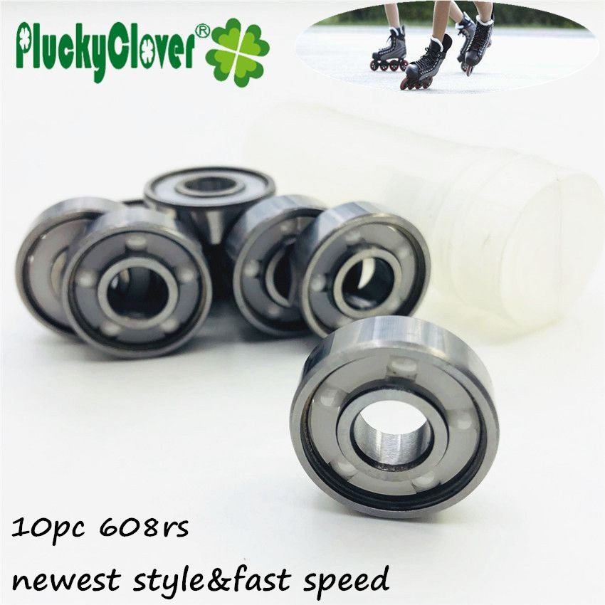 10pc ABEC-5 608ZZ Ball Roller Skateboard Scooter Blade Bearing Steel High Speed