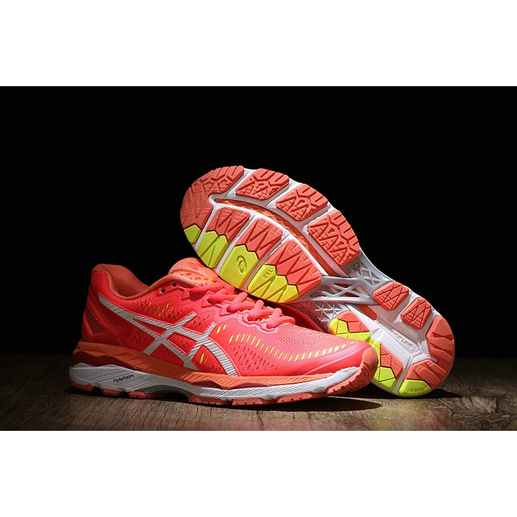 Original Asics GEL KAYANO 23 sport running casual lowtop comfortable damping shoes for women red fashion