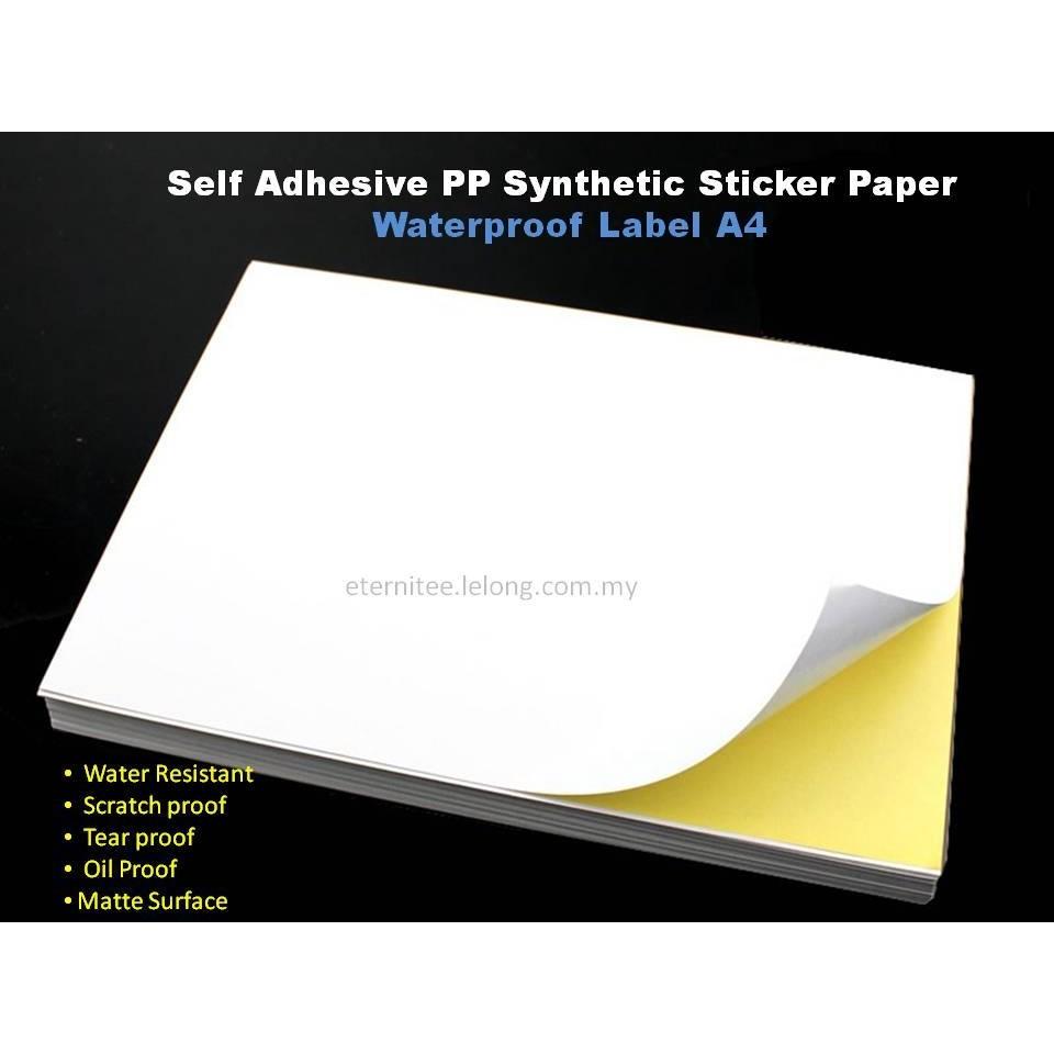 Printing Sticker A4 Glossy Or Matte Shopee Malaysia Stiker Vinyl Inkjet White Laminasi 15 Meter