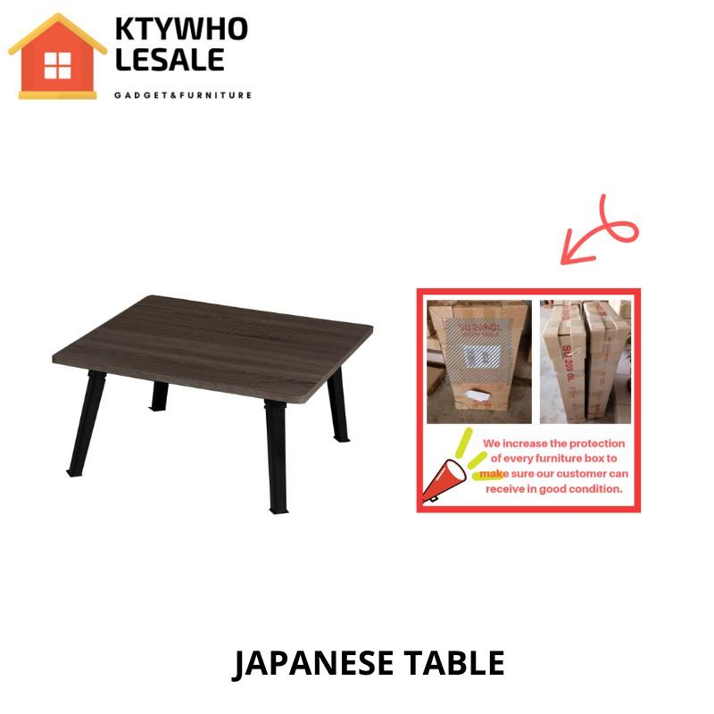 KTY 4060 2 SET Japanese Style Foldable Table Sonoma Dark writing desk study desk coffe table /meja lipat