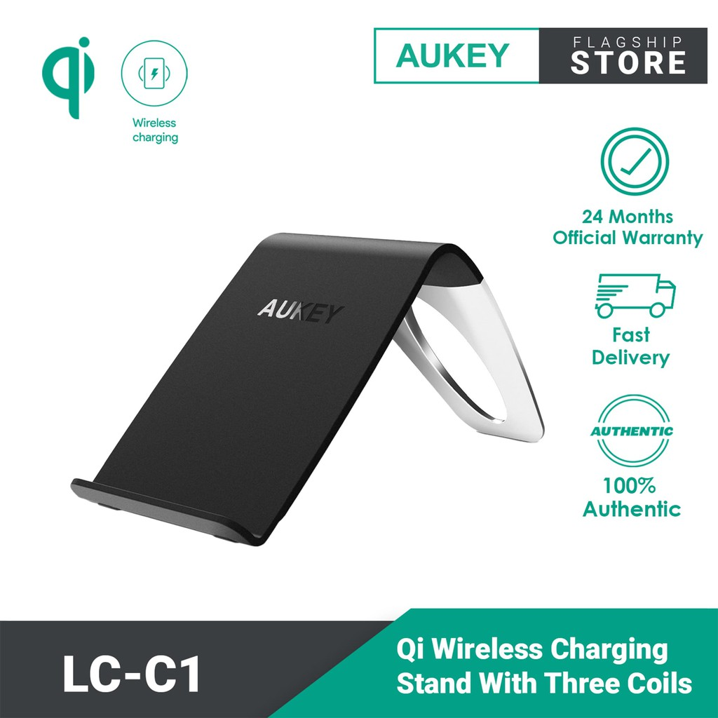Aukey LC-C1 Qi Wireless Charging Stand with Three Coils