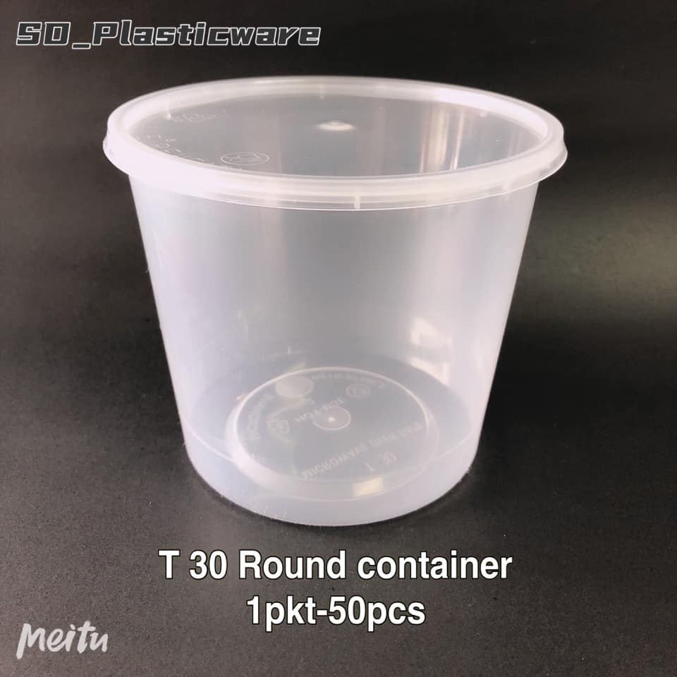 Round Microwave Food Container With Lid