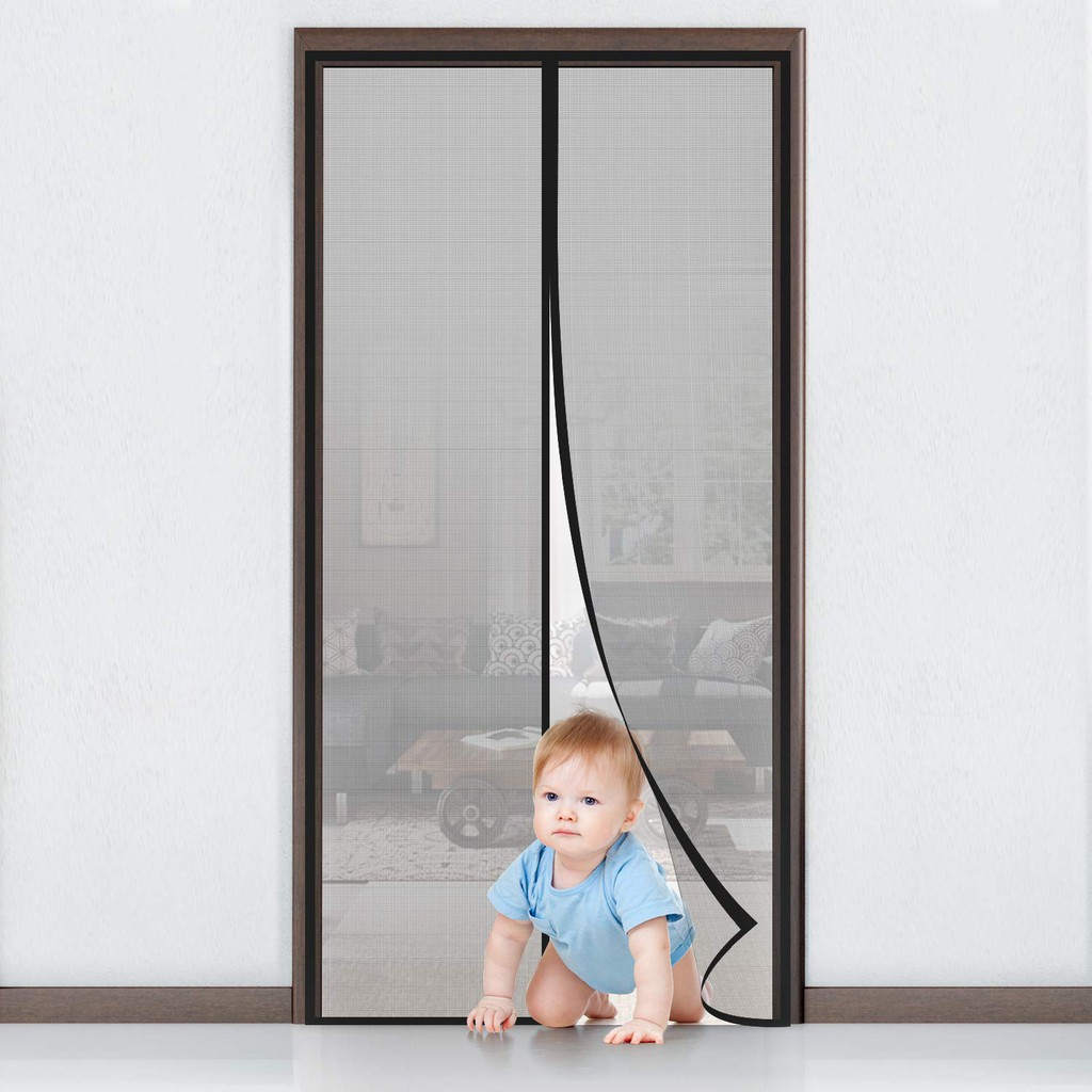 GDeal Mosquito Curtain Velcro Manual Mute Stripe Magnetic Anti Flying Insects Soft Screen Curtain Langsir (90CM x 210CM)