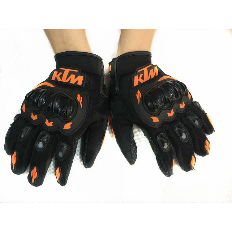 KTM ORANGE Great Protection! MOTOCROSS MX ENDURO /'CARBON KNUCKLE/' GLOVES NEW