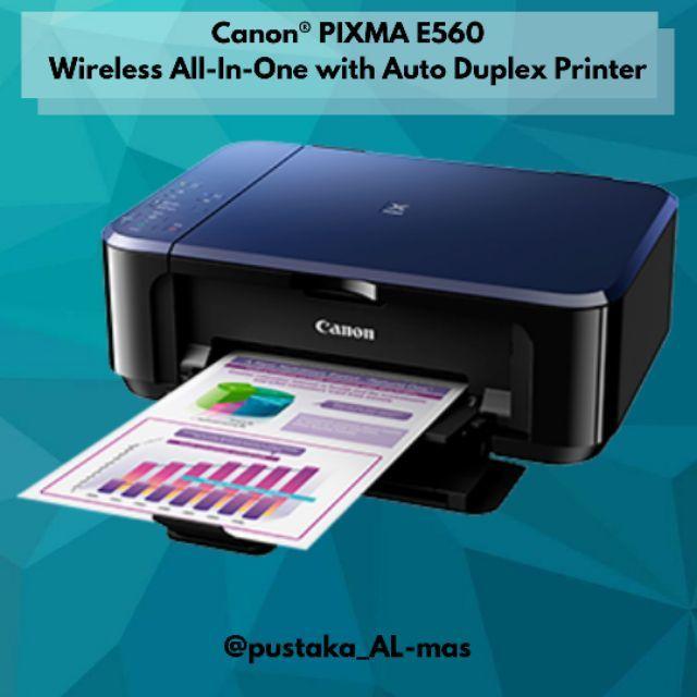 Canon PIXMA E560/E560R Wireless All-In-One with Auto Duplex Printer