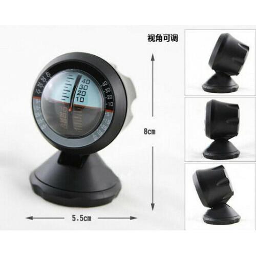 4 Wheel Drive 4X4 4WD Inclinometer Clinometer Tilt Angle Meter Slope Gauge Black