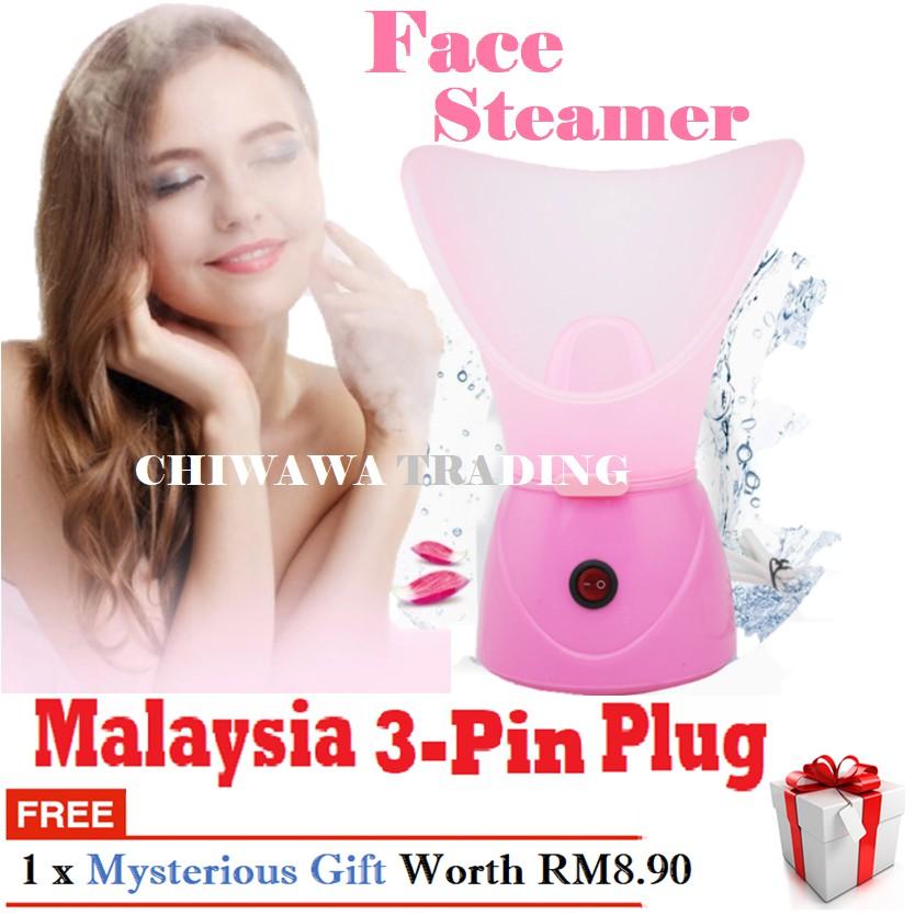 【Malaysia 3-Pin Plug】Facial Steamer Nano Ion Steam Spa Face Vaporizer / Pengukus