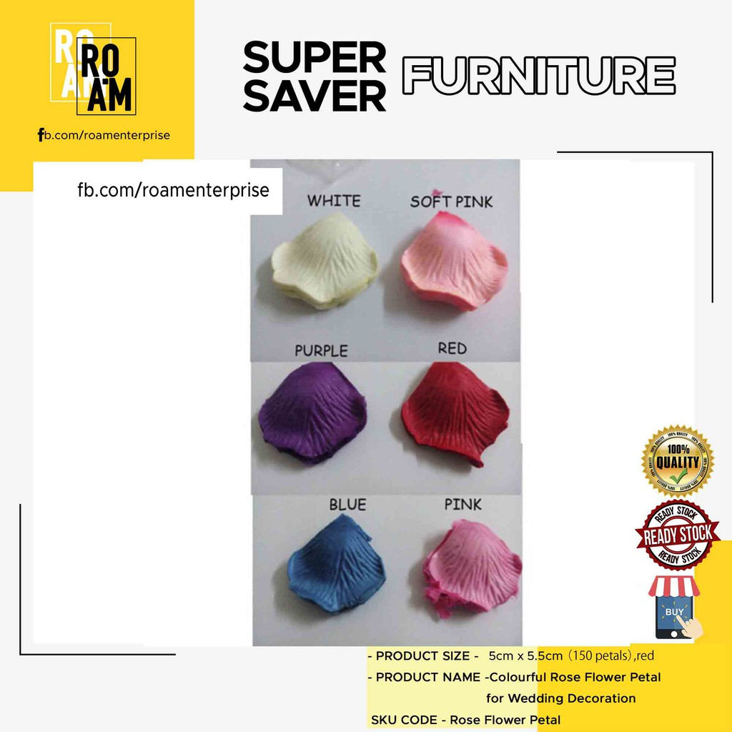 (Ready Stock)Colourful Rose Flower Petal for Wedding Decoration
