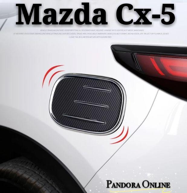 For Mazda CX-5 CX5 2017 2018 2019 Chrome Fuel Tank Cover Gas//Oil Tank Cover trim