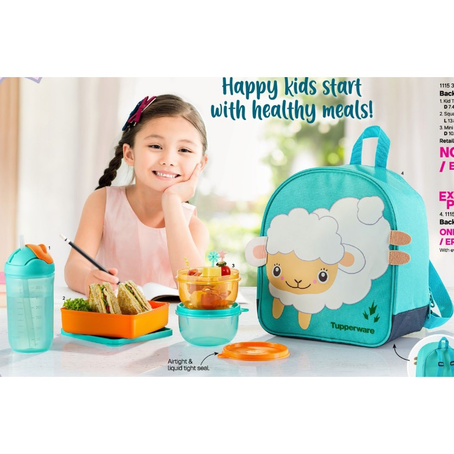 Tupperware Back To School Set (with OR without Backpack)