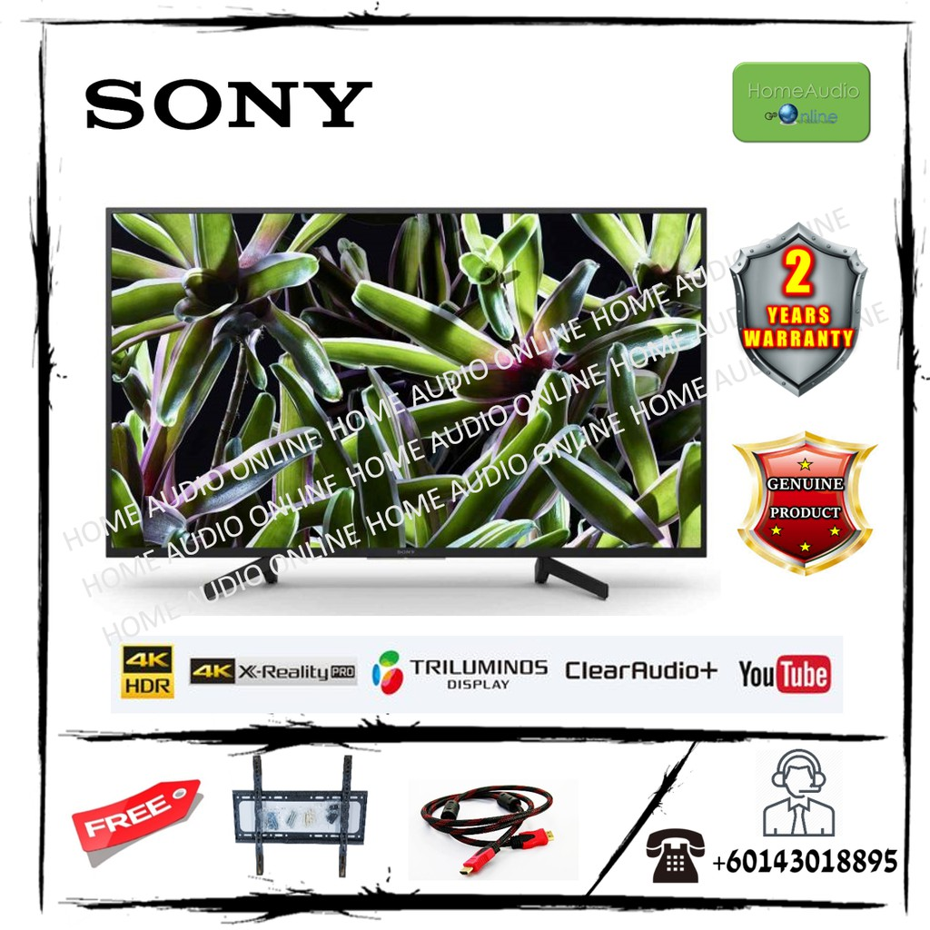 Sony 55 Inch 4K HDR Smart TV - KD55X7000G *Free Bracket + HDMI Cable*