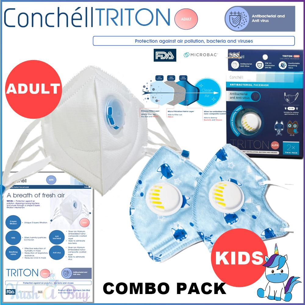 Adult Facemask 5 Reusable Triton Pm2 Kids For Face 2pcs Sars Mask Protection N95 From Antibacteria - amp; Conchell