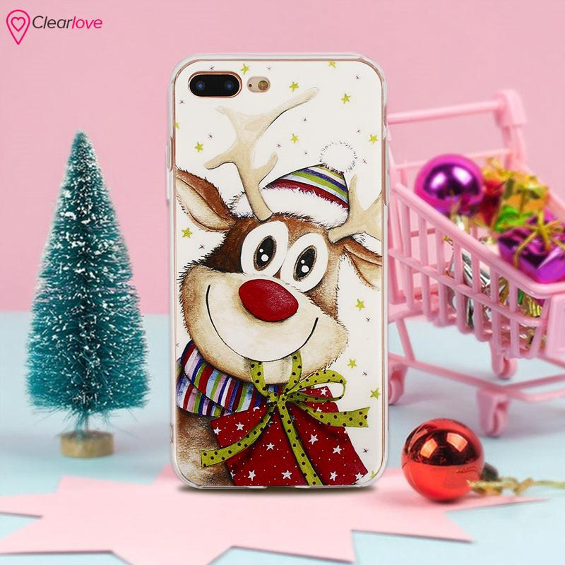 Christmas Phone Case Iphone 7.Cle Christmas Phone Cover Christmas Phone Shell Durable For Iphone 7 Plus For Iphone