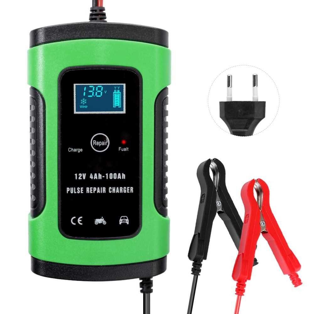 12V 6A Car Battery Charger Intelligent Fast Power Charging Pulse Repair Charger Full Automatic Battery Maintainer Wet D
