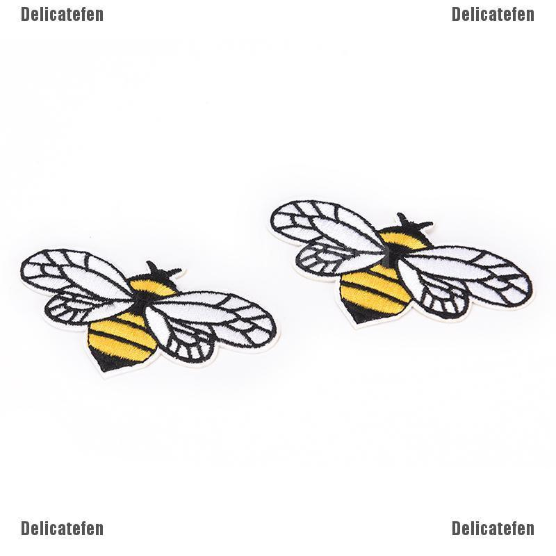 1pc Flying Bee Badge Iron Sew on Patch Embroidered Cloth Hat Jean Applique DIY