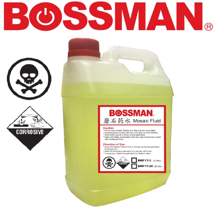 BOSSMAN BMF1720  MOSAIC FLUD 20 LITRE 17% EASY USE SAVE TIME CLEANING ACCESSORIES