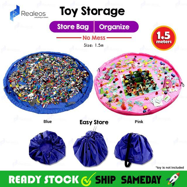 1 5m Realeos Portable Kids Quick Toy Mat Storage Bag