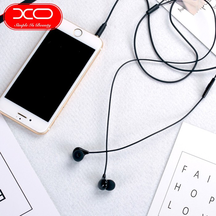 XO S12 BEAN EARPHONE HIGH FIDELITY SOUND 3.5MM AUDIO JACK BUILT-IN MICROPHONE EARSET INLINE CONTROL CLEAR SOUND MODULATI