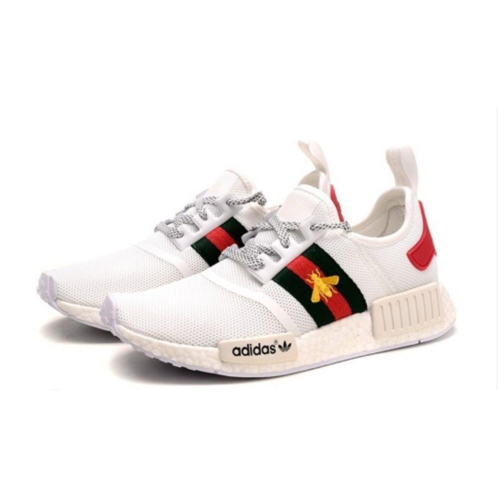 6f0ca710b Adidas NMD x GUCCI Bees Custom (White) | Shopee Malaysia