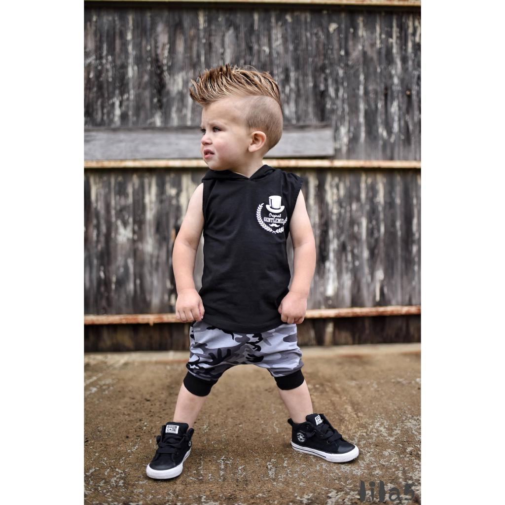 9cb532695ea3a ღ☭Toddler Baby Boy Summer Clothes Hooded T-shirt Tops Harem Pants ...