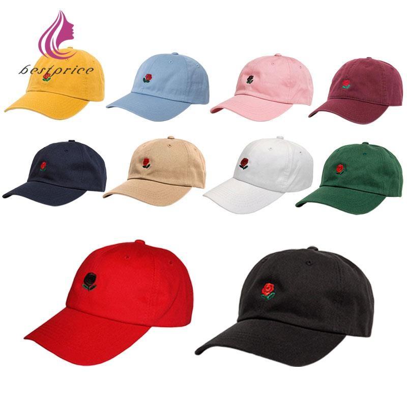e16ddd29232 The Hundreds Dad Hat Flower Rose Embroidered Curved Brim Baseball Visor caps