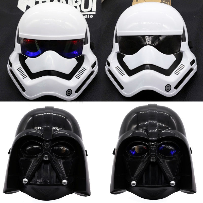 Star Wars Mask Darth Vader Stormtrooper Cosplay Mask Light Up
