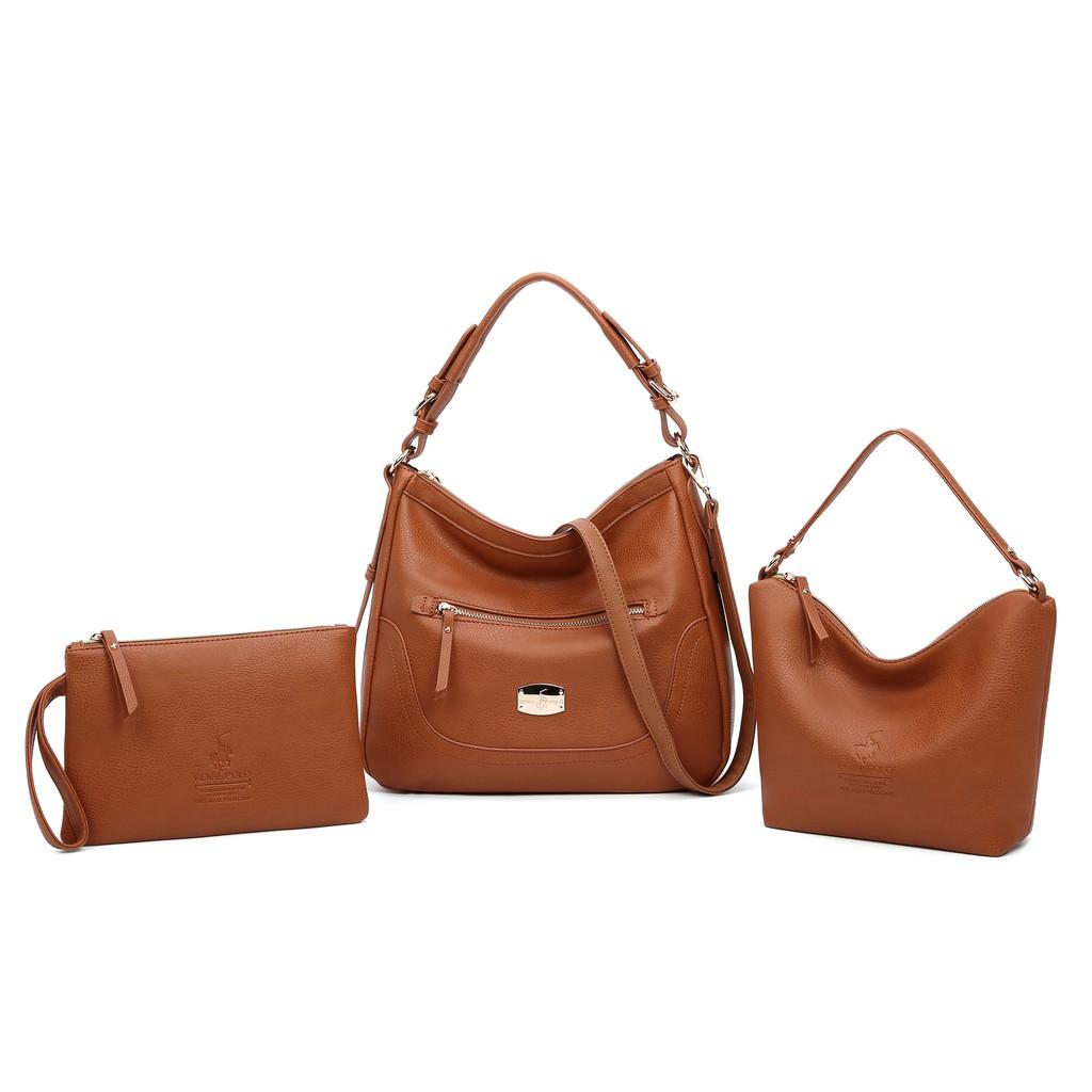ROYAL POLO May Handbag 3in1 Set  (Free Sling Bag And Make Up Pouch)