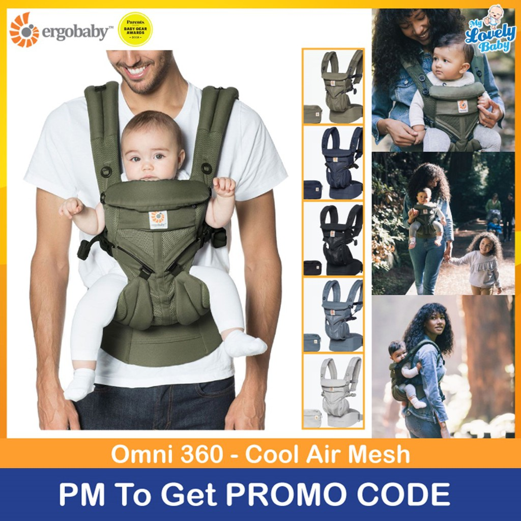 b03448e52f6 Ergobaby Omni 360 Baby Carrier All-In-One Cool Air Mesh (Bundle ...