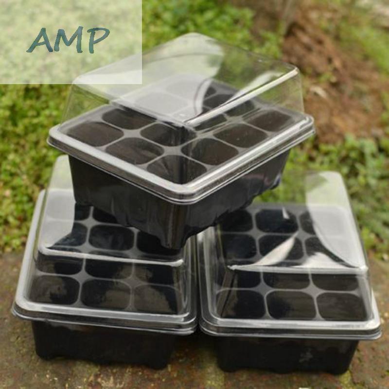 12 Holes Plastic Flower Pots Plant Seedling Tray Nursery Garden Tool Durable
