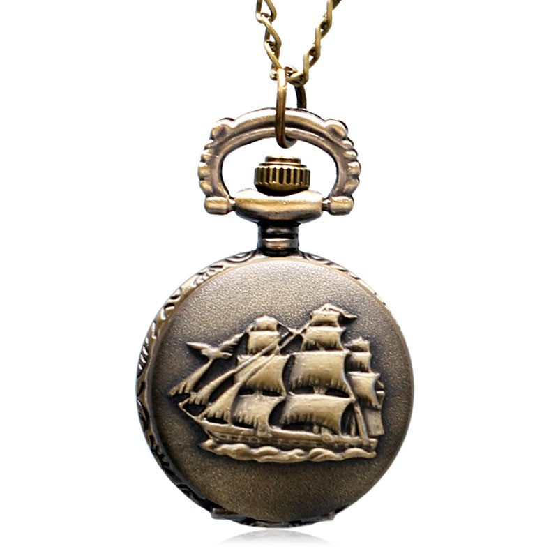 2f5f3a649 Men and women small size sailing design retro pocket watch   Shopee Malaysia