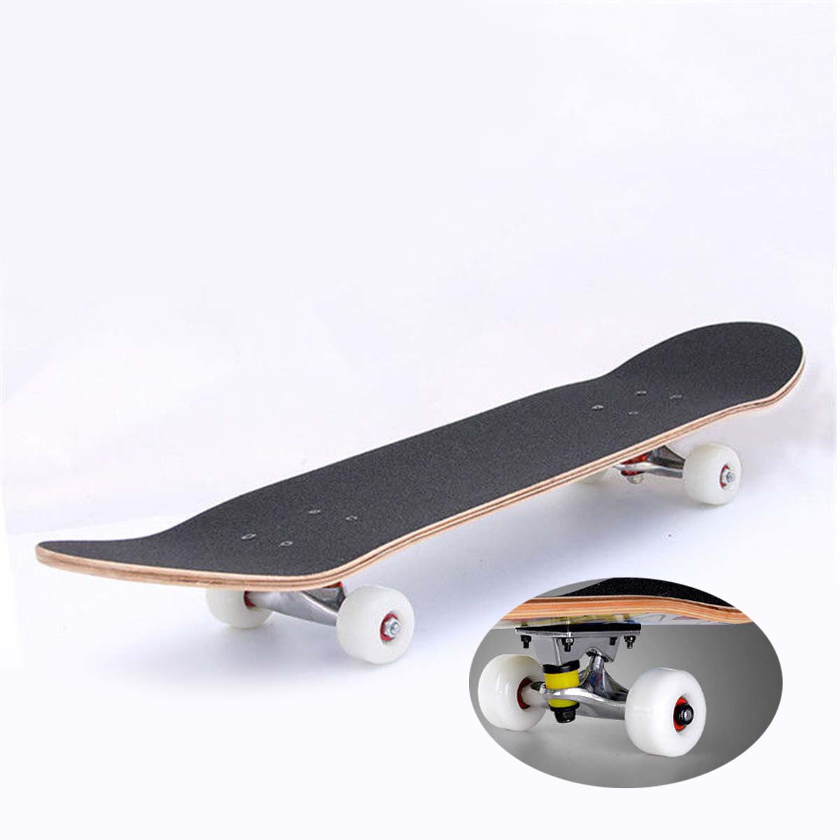 Sport Skateboard Longboard Wheels 83A with ABEC-9 Bearings Spacers Yellow Kit