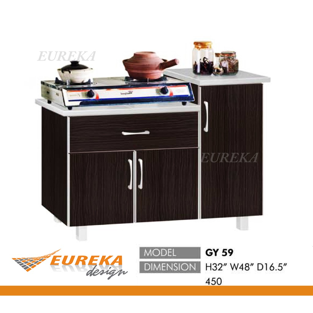 Eureka 4ft L Gas Kitchen Cabinet Kabinet Dapur Gas Drawer Deliver Installation Klang Valley Shopee Malaysia