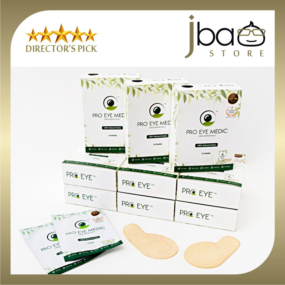 Natural Herbs Pro Eye Medic Vision Repair Patch Mask Floaters ProEye approved by KKM Consumer's Award Spa Relax