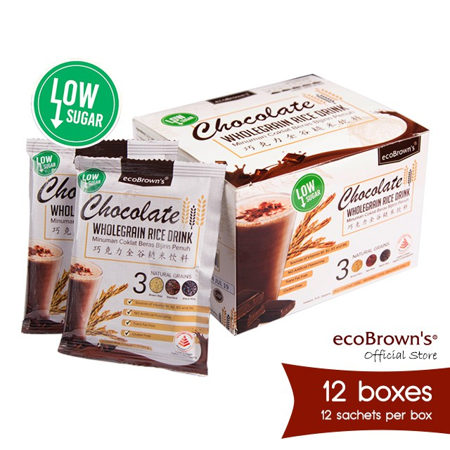 ecoBrown's Chocolate Beverage (Low Sugar) x12