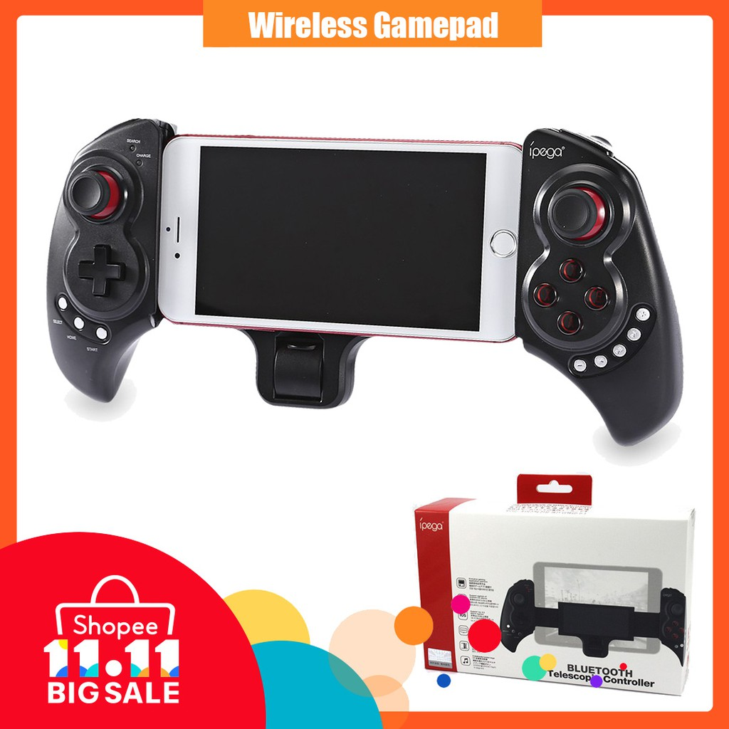 Ipega Pg 9076 3in1 Wireless Bluetooth 24g Game Controller Gamepad Mobile Gaming 30 For Android And Ios 9021 Black Shopee Malaysia