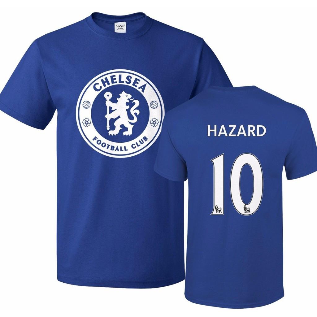 Tcamp Chelsea Eden Hazard  10 Jersey Causal Mens Short Sleeve T Shirts Blue   81b15741a
