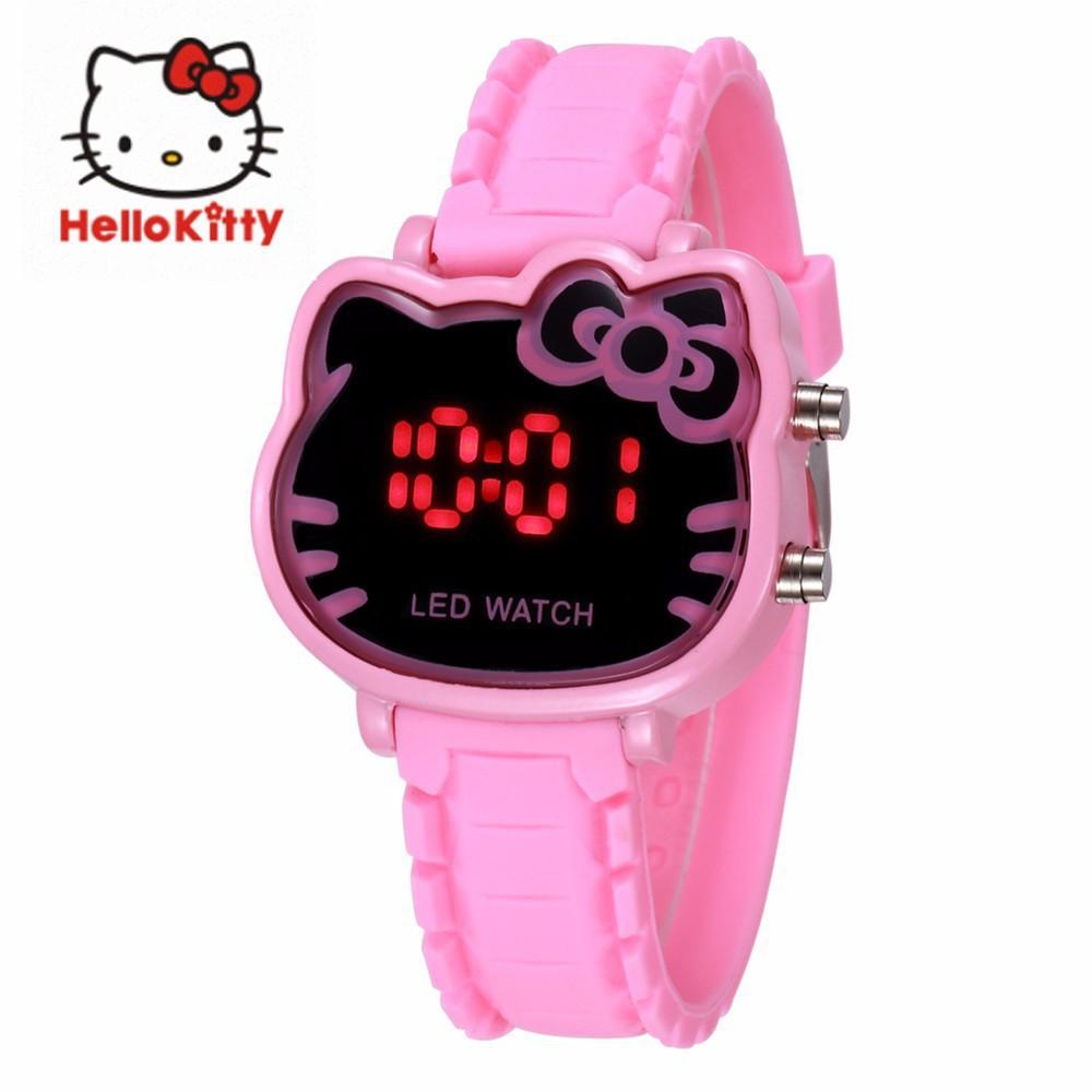 6e0efa815 Cute Waterproof Hello Kitty Kids Watch Children's led digital watch    Shopee Malaysia
