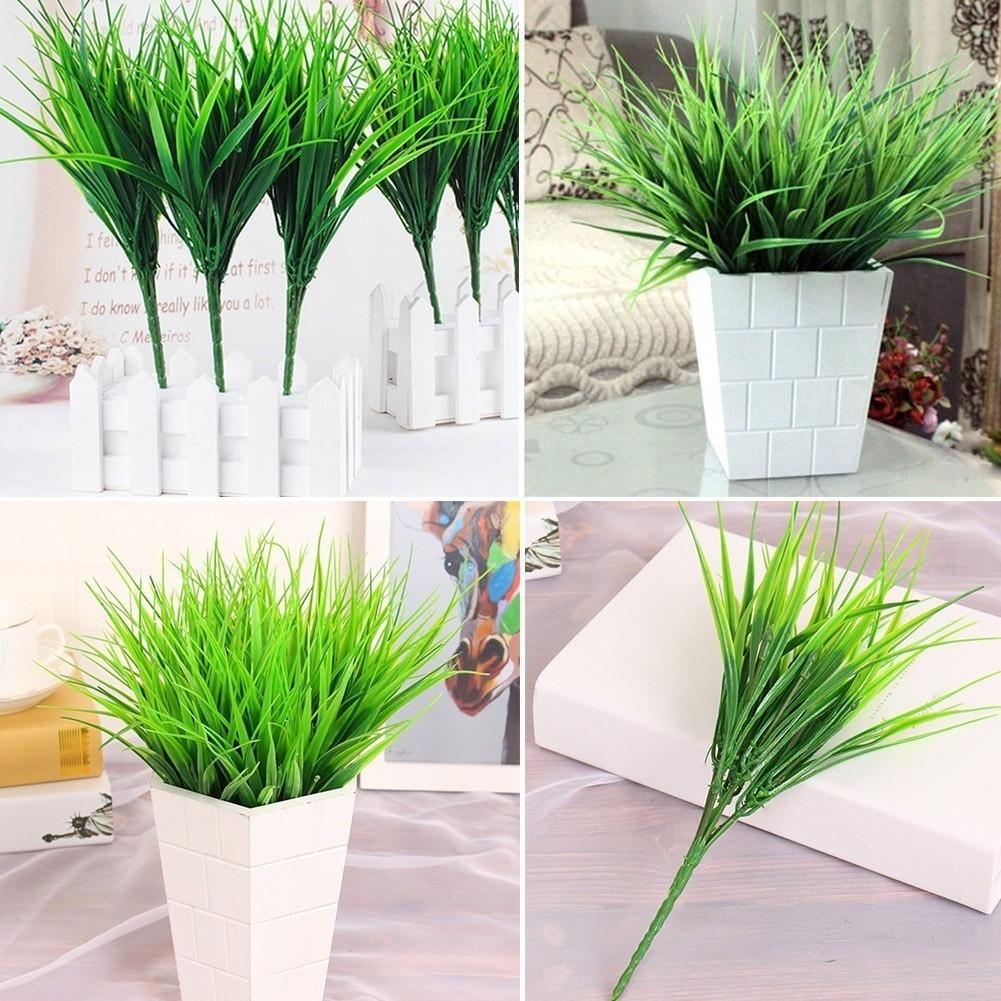 Green Fake Artificial Plant Plastic Leaves Flower Grass Office Home Garden Decor