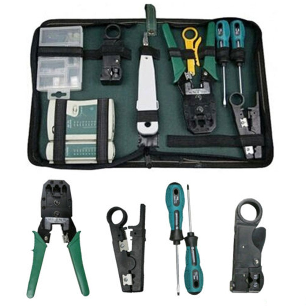 3mm Portable Crimper Lan Internet Cabling Crimp Cable Tester Hand Tools Kit