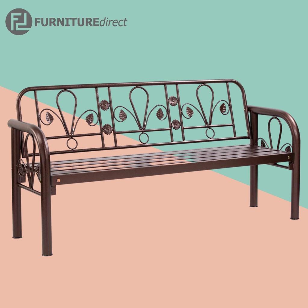 DATSUN 123 seater metal bench chair