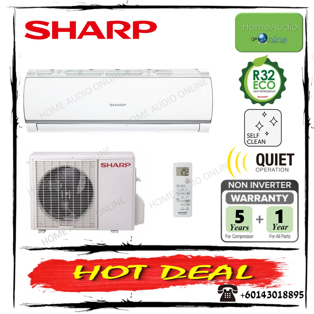 Sharp 2.0HP R32A Gas Air Conditioner - AHA18WCD / AUA18WCD