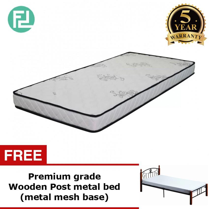 Masterfom 5inc rebond foam single size mattress with free bedframe