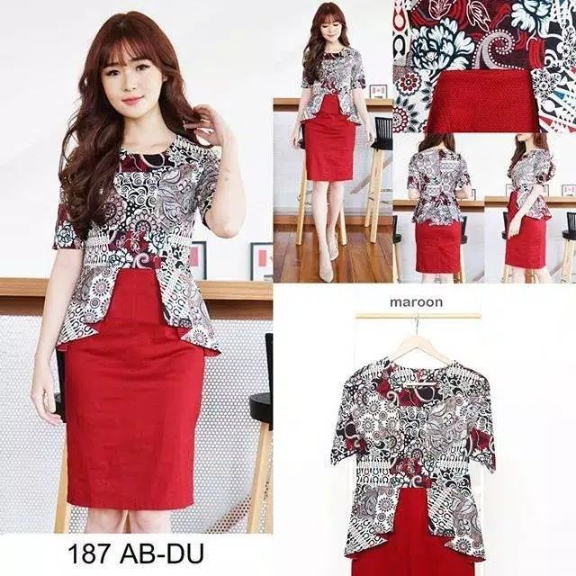 Dress batik 187 AB-DU