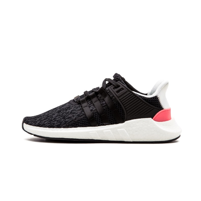 sports shoes 54041 5a751 M*Adidas EQT SUPPORT men's and women's black and pink striped running shoes
