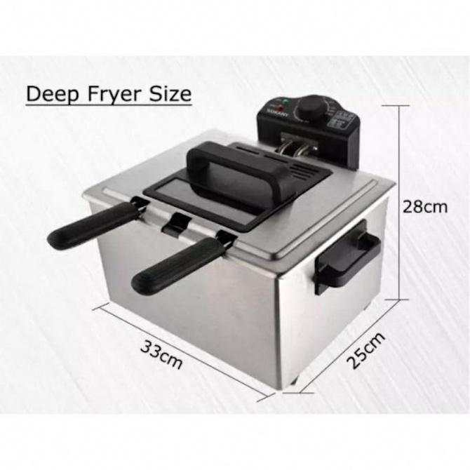 SOKANY 5L Electric Deep Fryer With 3 Frying Basket Goreng Minyak Goreng WJ 801 2100W 5 Liter Air Fryer Smokeless Oilless