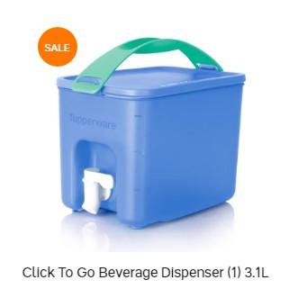 Tupperware Click To Go Beverage Dispenser 3.0L