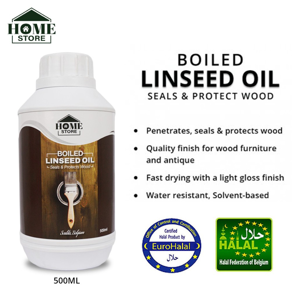 Home Store Boiled Linseed Oil Seals & Protects Wood 500ML
