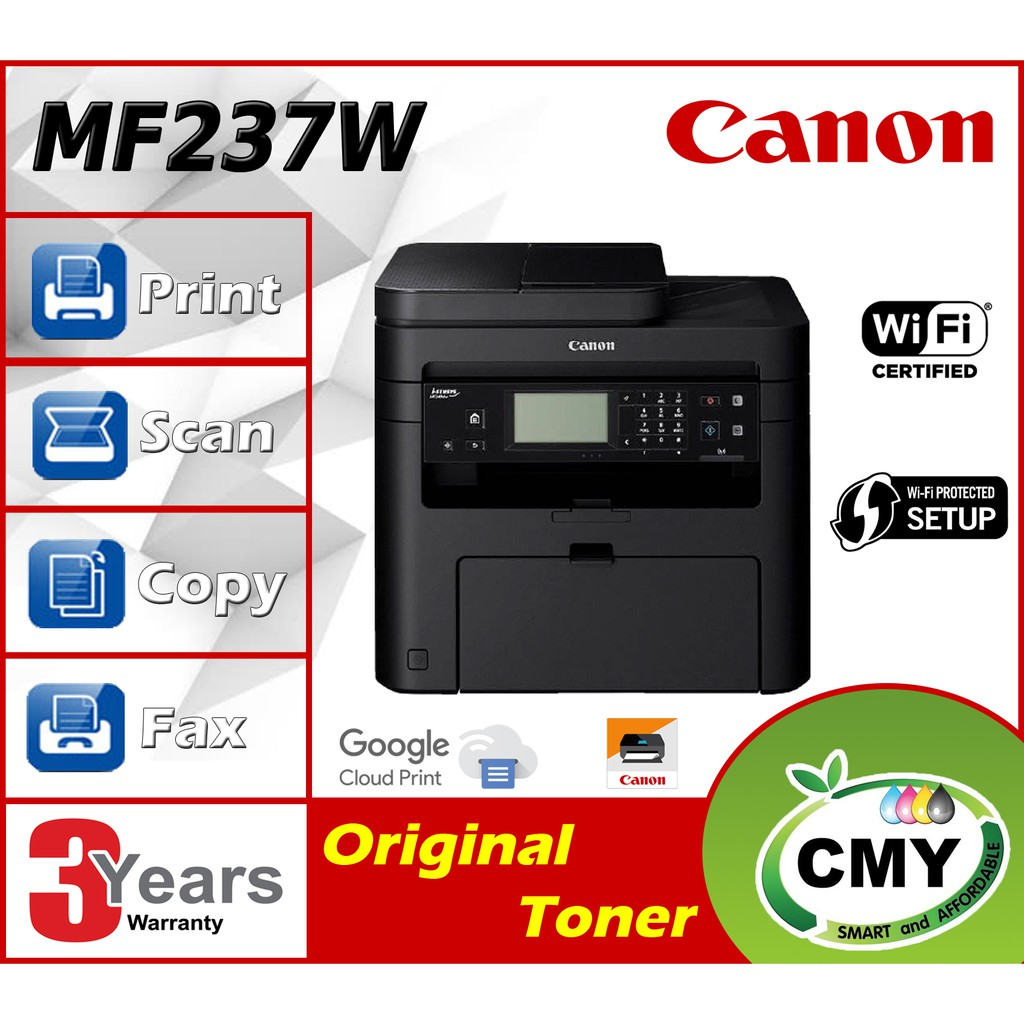 Canon imageCLASS MF237w All-in-One Print Copy Scan Fax with wireless connectivity similar with MF235 DCP-L2550dw